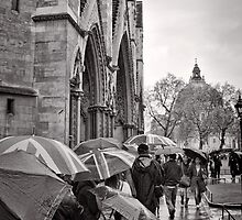 Waiting for Westminster - London - Britain by Norman Repacholi