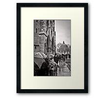 Waiting for Westminster - London - Britain Framed Print