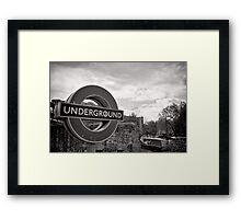 Underground below - London - Britain Framed Print
