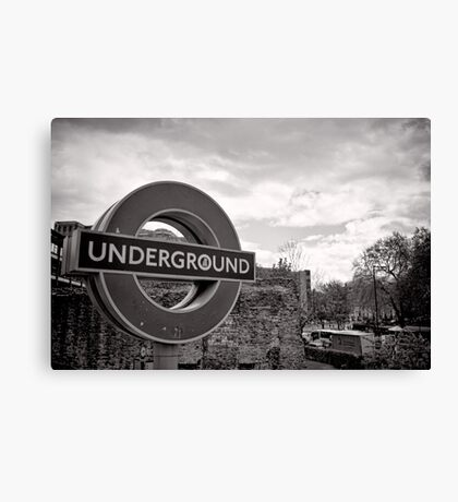 Underground below - London - Britain Canvas Print