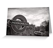 Underground below - London - Britain Greeting Card