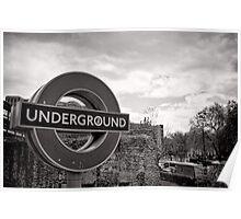Underground below - London - Britain Poster