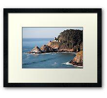 Lighthouse Repair Framed Print