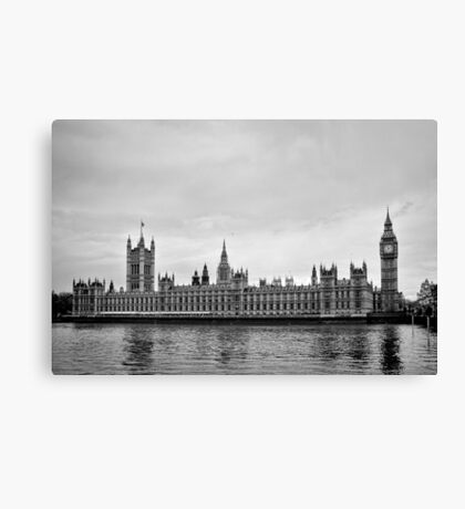 Houses with a view of the water - London - Britain Canvas Print