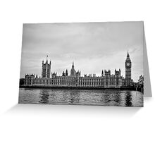 Houses with a view of the water - London - Britain Greeting Card