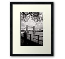 Enjoying the view - Tower Bridge - London - Britain Framed Print