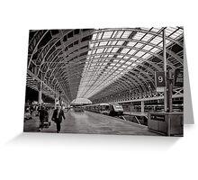 Paddington Platform 9 - London - Britain Greeting Card