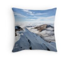 Schilthorn's Sea of Clouds Throw Pillow