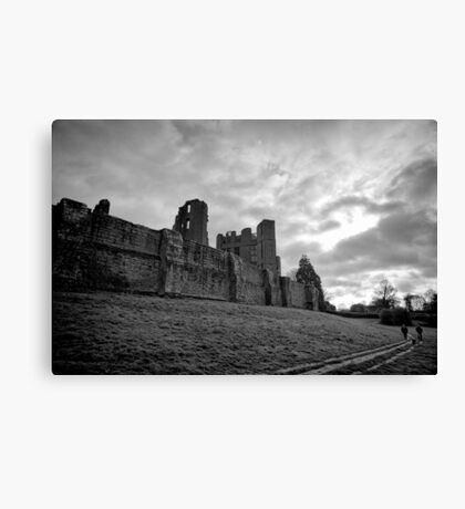 Walking and wondering of the walls that were - Kenilworth - Britain Canvas Print