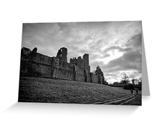 Walking and wondering of the walls that were - Kenilworth - Britain Greeting Card