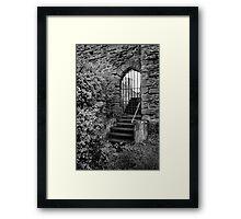 Sneak in the back entrance - Kenilworth - Britain Framed Print