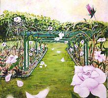 Morning Sun New Farm Park Rose Garden by Kathleen Duronio