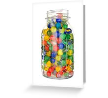 jar of marbles Greeting Card