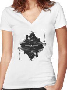 HIDDEN (Thief/Skyrim Mashup) Women's Fitted V-Neck T-Shirt
