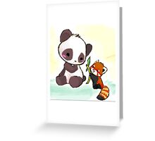 Cute Pandas  Greeting Card