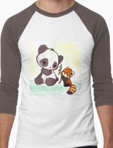 Cute Pandas  Men's Baseball ¾ T-Shirt
