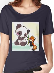 Cute Pandas  Women's Relaxed Fit T-Shirt