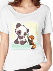 Cute Pandas  Women's Relaxed Fit T-Shirt
