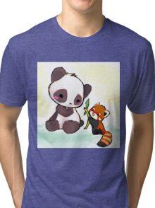 Cute Pandas  Tri-blend T-Shirt