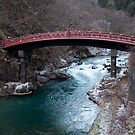 Red Bridge at Nikko by fab2can