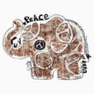 peace love and understanding elephant by © Karin Taylor