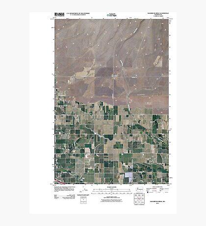USGS Topo Map Washington State WA Sagebrush Ridge 20110407 TM Photographic Print