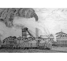 My pencil drawing of Frickley Colliery (2), Yorkshire 1920 Photographic Print