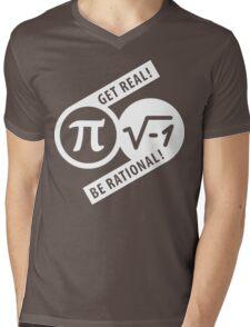 Get Real Be Rational Mens V-Neck T-Shirt