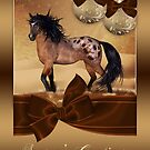 Winter Horse Christmas Holiday Greeting Card by Moonlake
