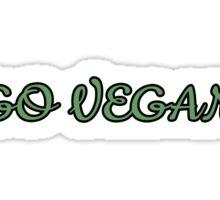 Go Vegan Shirt Sticker