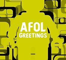 Retro Minifig Art AFOL Greetings Card by Customize My Minifig by ChilleeW