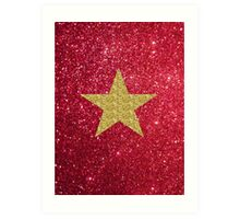 Sparkly gold star:) Art Print
