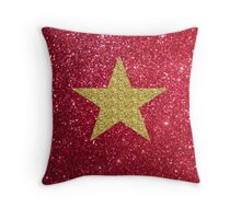 Sparkly gold star:) Throw Pillow