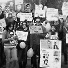 Iranian Demonstrators  by Andrew  Makowiecki