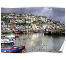 Brixham Harbour Poster