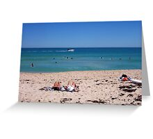 Bathers And A Boat   30 09 12 Greeting Card