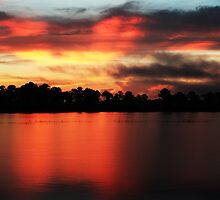 Sunrise at Webb lake by kathy s gillentine