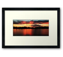 Sunrise at Webb lake Framed Print