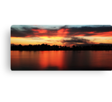 Sunrise at Webb lake Canvas Print