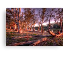 River Murray Sunset III - Renmark, South Australia Canvas Print