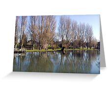 River Thames at Sandford near Oxford. Greeting Card