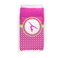 Gymnastics - Pink and Green Polka-Dots Duvet Cover
