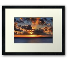 Sunburst Evening (Digital Art) Framed Print