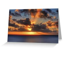 Sunburst Evening (Digital Art) Greeting Card