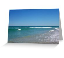 Surfer At Trigg Two 30 09 12 Greeting Card