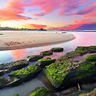 Sunset Rocks - Toowoon Bay Beach by Jacob Jackson