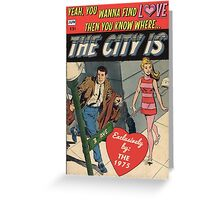 The City by The 1975 Comic Greeting Card