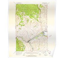 USGS Topo Map Washington State WA Brewster 240214 1957 62500 Poster