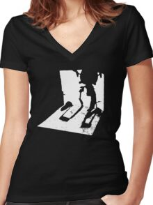 Codsworth Returns - Fallout 4 Women's Fitted V-Neck T-Shirt