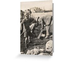 Never Did Discover Who Wielded The Stick.... Greeting Card